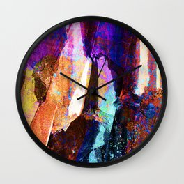 ABSTRACT NATURE // NEW ZEALAND // RAINBOW ROCKS Wall Clock