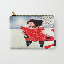 Snow Princess in Red Carry-All Pouch