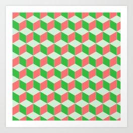 Christmas Escher Print Art Print