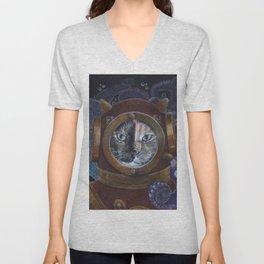 Deep Sea Diving Cat Unisex V-Neck