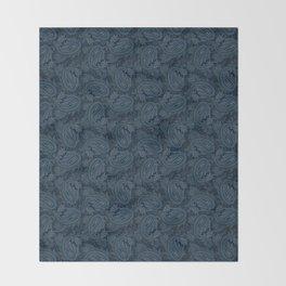 Meredith Paisley - Navy Throw Blanket