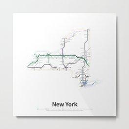 Highways of the USA – New York Metal Print