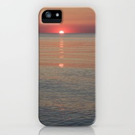 Sunset At Lake Erie iPhone Case