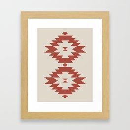 Southwestern Minimalism - Scarlet Red Framed Art Print