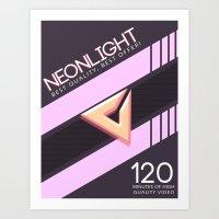 NEONLIGHT (Mock Blank VHS Poster) Art Print