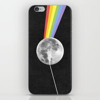dark side of the moon iPhone & iPod Skins featuring Dark Side of the Moon. by Nick Nelson