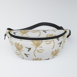 Hummingbird & Flower I Fanny Pack