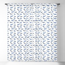 White Whaling Blackout Curtain