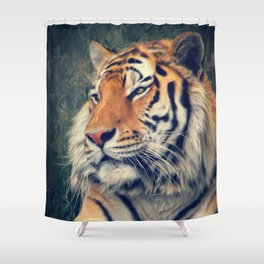 Tiger No 3 Shower Curtain