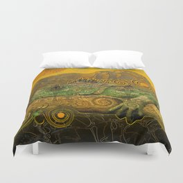 Just Chilling and Dreaming...(Lizard) Duvet Cover
