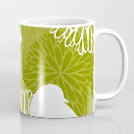 Pom Poms & Birds in Green by Friztin Coffee Mug