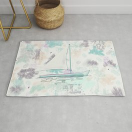 Early Pastel Sailing Rug