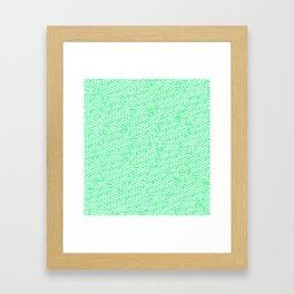 Microchip Pattern (Mint) Framed Art Print