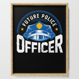 Future Police Officer Cop Thin Blue Line Serving Tray
