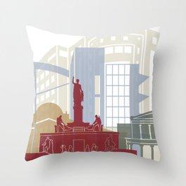 Nicosia skyline poster Throw Pillow
