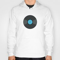 records Hoodies featuring Vinyl Records by PatternInk