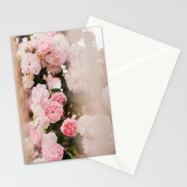 Pink Wild Roses Stationery Cards
