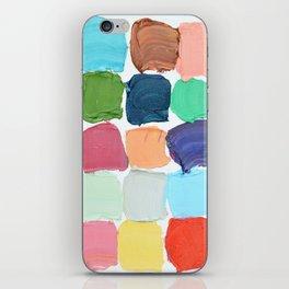 Polka Daub Grid iPhone Skin