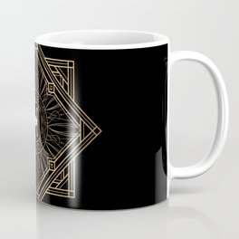 Swan Vintage Art Deco Gold Ornament Coffee Mug