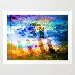 Photos of Yesterday and Today. Art Print