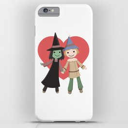 Cute witch and scarecrow iPhone Case