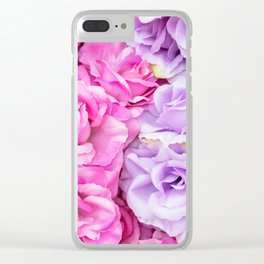 Roses violette Clear iPhone Case