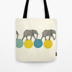 Travelling Elephants Tote Bag
