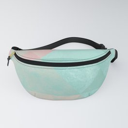 Pink and Mint Geometric Composition  Fanny Pack