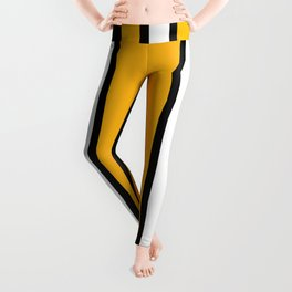 Pittsburgh Black And Yellow Abstract Leggings
