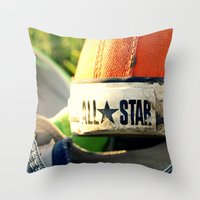 converse Throw Pillows featuring Converse by americansummers