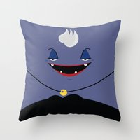 ursula Throw Pillows featuring Ursula by Maria Jose Da Luz
