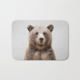Grizzly Bear - Colorful Bath Mat