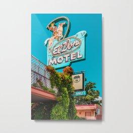 El Don Motel Metal Print