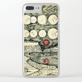 Parade combat UFOs at the time Supermoon Clear iPhone Case