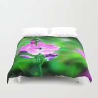 bugs Duvet Covers featuring Summer Bugs by Ace Crescent