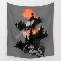 dragon ball z Wall Tapestries featuring A samurai's life by Picomodi