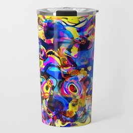 Abstract Mess Travel Mug