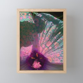 I SPOTTED A FRILLY FLOWER Framed Mini Art Print