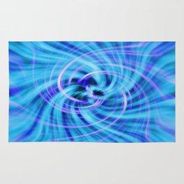 Blue twirl Rug