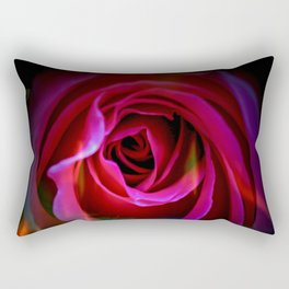 Fire rose Rectangular Pillow