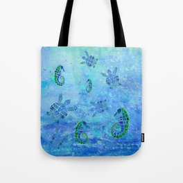 Sea Turtle Batik Tote Bag