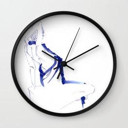 ...In a Blue Dress Wall Clock
