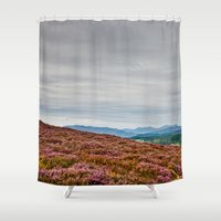 scotland Shower Curtains featuring Scotland by janisratnieks