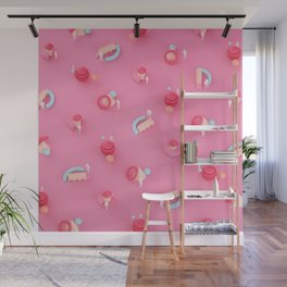 Pink Pattern Wall Mural