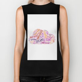 Wishes For The Cloths Of Heaven Biker Tank