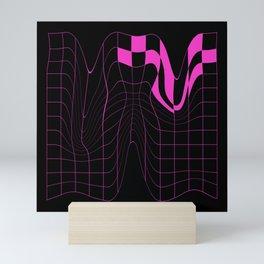 Grid 4 (Pink) Mini Art Print