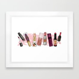 Lipstick Mural Framed Art Print