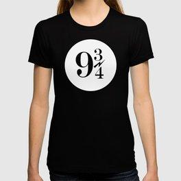 9 3/4 nine and three-quarters King's Cross Platform Train Station Harry Hogwarts T-shirt