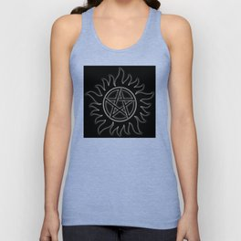 Anti Possession Sigil White Glow Unisex Tank Top