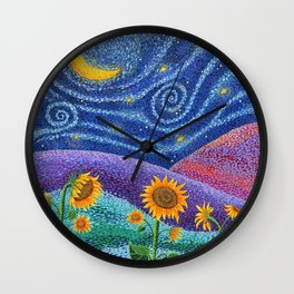 Dream Fields Wall Clock